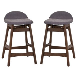 Liberty Space Gray Set of 2 Counter Height Stools