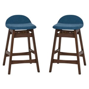 Liberty Space Blue Set of 2 Counter Height Stools