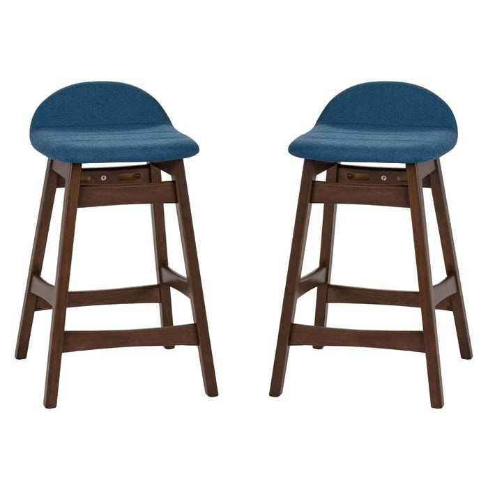 Pleasing Liberty Space Blue Set Of 2 Counter Height Stools Machost Co Dining Chair Design Ideas Machostcouk