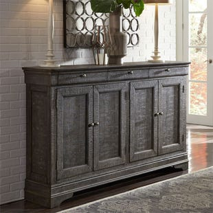 Galveston Gray 4 Door Sideboard