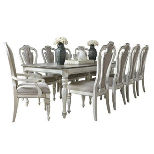 Magnolia Manor Antique White Extendable 11 Piece Dining Set