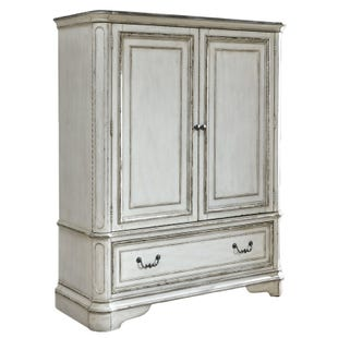 Magnolia Manor Antique White 2 Door Chest