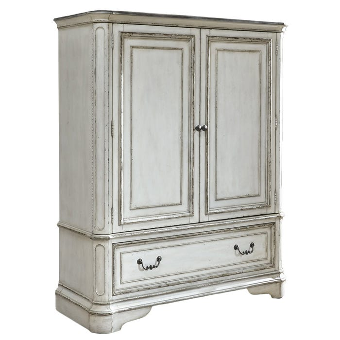 Storewide SELL-OFF - Magnolia Manor Antique White 2 Door Chest Weekends Only Furniture