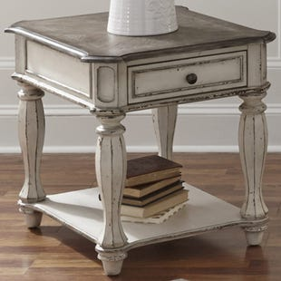 Liberty Magnolia Manor Antique White End Table