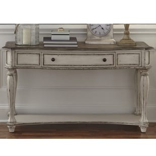 Liberty Magnolia Manor Antique White Sofa Table