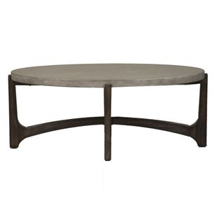 Bolder Heights Brown/Concrete Composite Top Cocktail Table