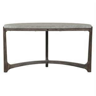 Bolder Heights Brown/Concrete Composite Top Sofa Table