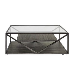 Liberty Urbana Glass/Metal/Wood Rectangular Cocktail Table