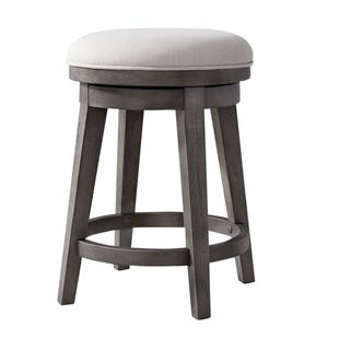 Modern Farmhouse Neutral Brown Swivel Stools