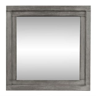 Modern Farmhouse Dusty Charcoal Mirror