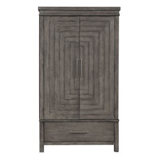 Modern Farmhouse Dusty Charcoal  Armoire