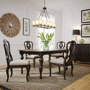 Chesapeake Brushed Black 5 Piece Dining Set