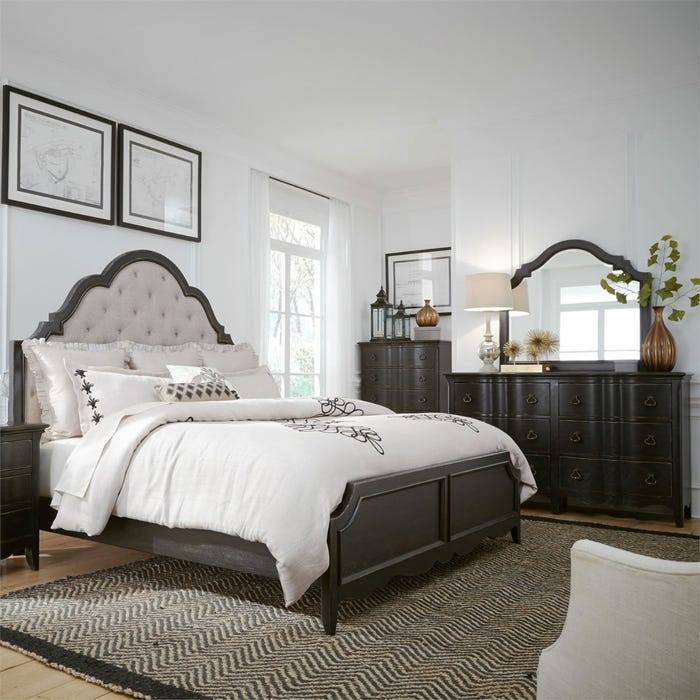 Liberty Chesapeake Antique Black Queen Sleigh Bedroom Set