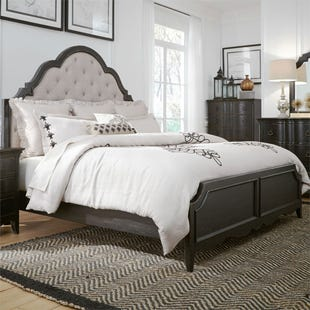 Chesapeake Antique Black King Panel Bed