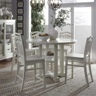 Liberty Summer Hills Linen White 5 Piece Counter Height Set
