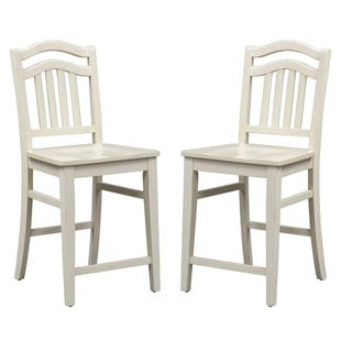 Liberty Summer HIlls Linen White Set of 2 Counter Stools