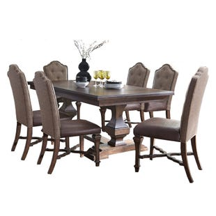 Lucca 7 Piece Double Pedestal Dining Set