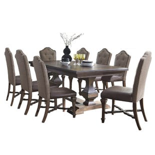 Lucca 9 Piece Double Pedestal Dining Set