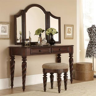 Liberty Arbor Place Brownstone 3 Piece Vanity Set