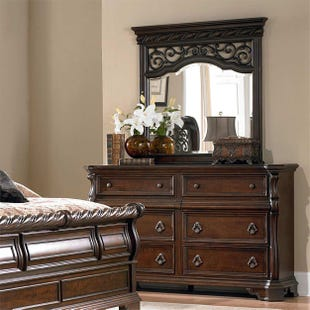 Liberty Arbor Place Brownstone Dresser and Mirror