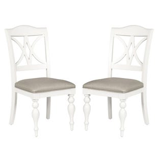 Summer House Oyster White Set of 2 Dining Chairs