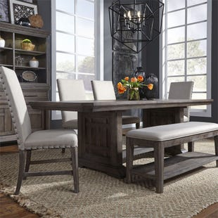 Artisan Prairie Aged Oak Extendable 6 Piece Dining Set