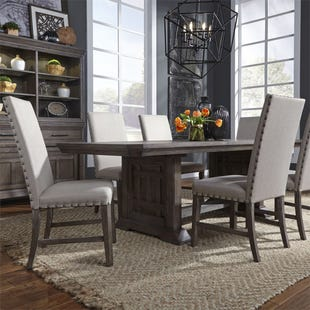 Liberty Artisan Prairie Brown/Aged Oak 7 Piece Dining Set