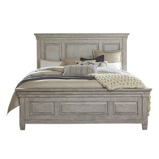 Heartland Antique White Queen Panel Bed