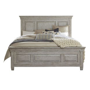 Heartland Antique White King Panel Bed