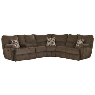 Catnapper Elliott Chocolate Reclining Sectional