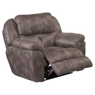 Ferrington Gray Dual Power Recliner
