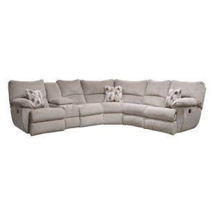 Elliott Gray Chenille Power Reclining Sectional