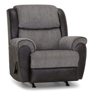 Gravity Gray Two-Tone Rocker Recliner