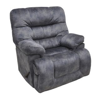 Boss Charcoal Power Lay-Flat Recliner