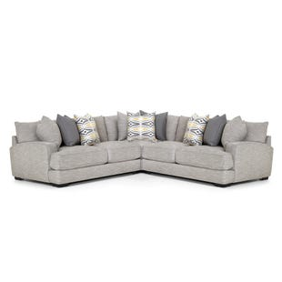 Barton 3 Piece Light Gray Sectional