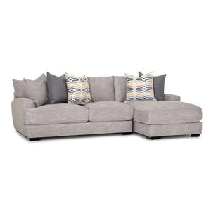 Barton Right Side Facing Sofa Chaise Light Gray