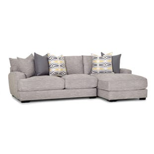 Barton 2 Piece Light Gray Right Side Facing Sofa Chaise