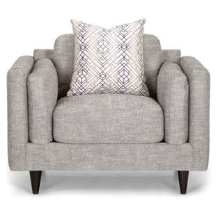 Argentine Modern Gray Accent Chair