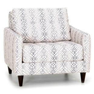 Argentine Cream Modern Geometric Accent Chair