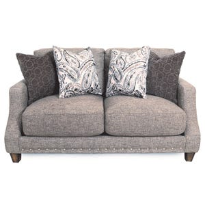 Twill Cambridge Loveseat Mocha