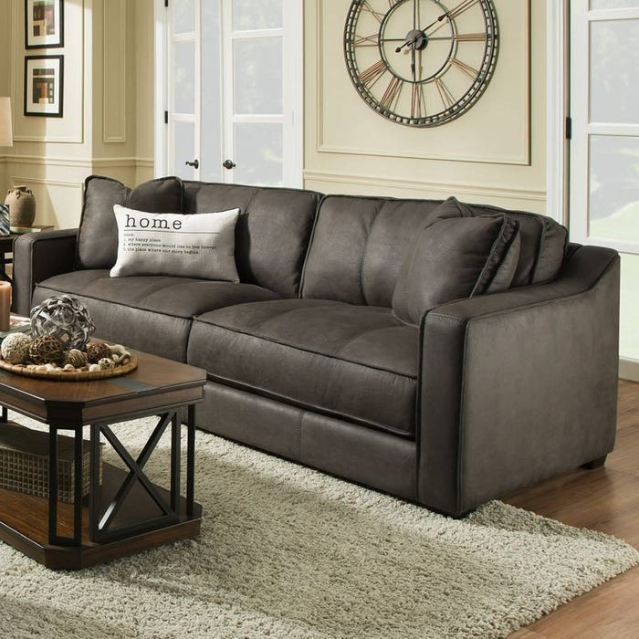 Pax Gray Microfiber Sofa | Weekends Only Furniture