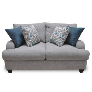 Stylus Gray Twill Loveseat