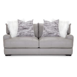 Leather Barton Sofa Gray