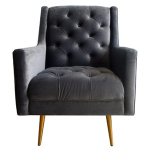 Bryan Charcoal Velvet Accent Chair