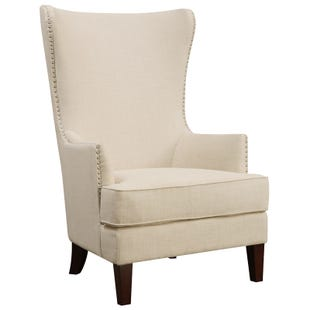 Kori Natural Linen Accent Chair