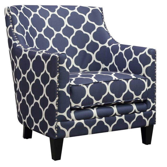 Dinah Blue Accent Chair Weekends Only Furniture
