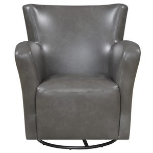 Marilyn Gray Faux Leather Swivel Chair