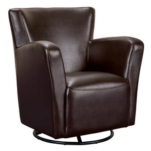Marilyn Chocolate Faux Leather Swivel Chair