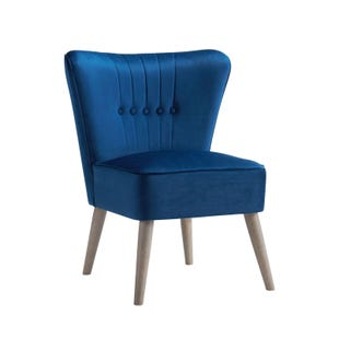 Waylon Navy Modern Armless Chair