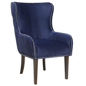 Tampa Navy Velvet Chair